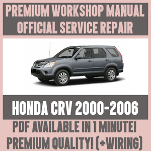details about >workshop manual service & repair guide for honda crv 2000-2006  +wiring  >