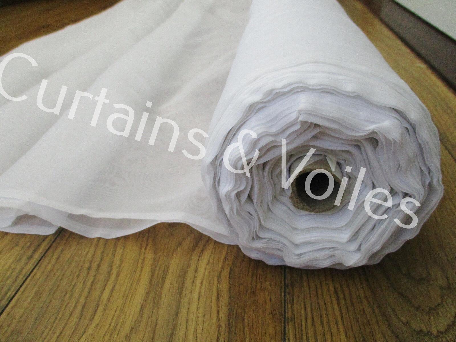 Blanc Uni Voile Tissu Rouleau 300 Cm Large Mariage événement Fête Drape  par M