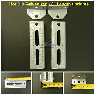 "2 12/"" Boat Trailer Swivel Top Bunk Board Brackets bolster hot dip Galvanized"
