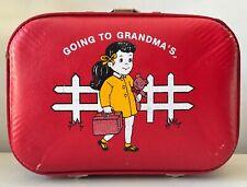 Red Going to Grandma/'s Train Duffel Bag
