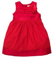 Holiday Christmas Red Satiny Dress Rosette And Tulle See Sizes