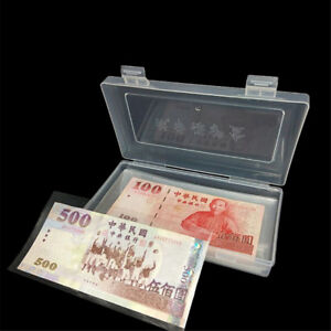 100x-Paper-Money-Album-Currency-Banknote-Case-Storage-Collection-With-Box-Gif-O