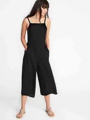 Jumpsuits & Rompers Women's Clothing Old Navy Women's Black Cami Jumpsuit Size Xxl Tall To Have Both The Quality Of Tenacity And Hardness