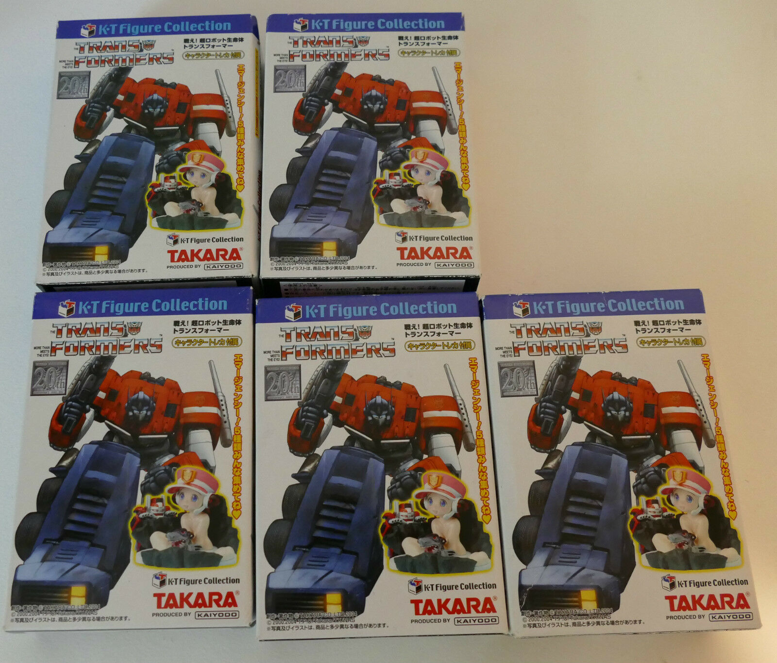 Takara K-T Figure Complete Collection of all 5 Figures BNIB from Japan