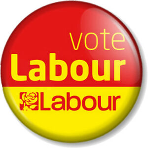 General Election Political Party Support 25mm Button Badge Vote Labour
