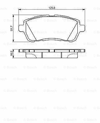 Ford Fiesta Mk6 1.2 plaquettes de frein Set avant 2008 sur Bosch 1550219 qualité neuf