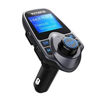 Victsing Bluetooth Fm Transmitter Radio Adapter Dual Usb Multi-playing Modes