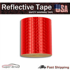 Car Self Adhesive Roll Tape Sticker Decal 3m Red Color Reflective Safety Warning