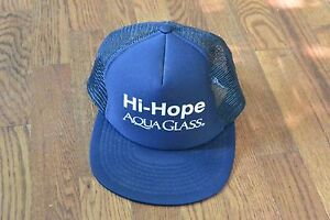 Vintage-Hi-Hope-Aqua-Glass-Trucker-Cap-Hat-Snapback