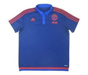 Manchester United 2015-16 Authentic Polo (eccellente) XL soccer jersey