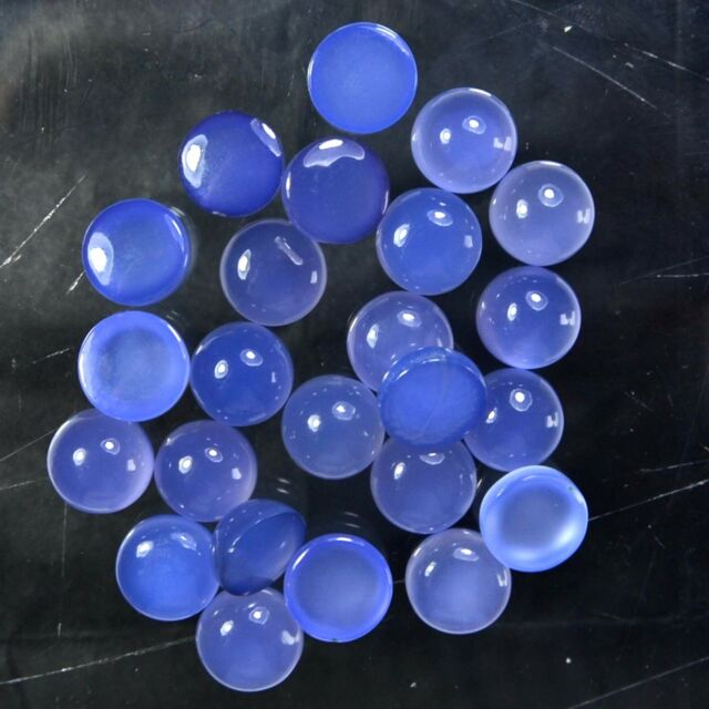 100%Natural blue chalcedony 6 mm round cabochon loose gemstone lots