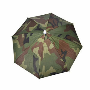 2b7fbc4019650 Image is loading Outdoor-Sport-Elastic-Headband-Nylon-Umbrella-Hat-Cap-