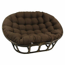 65-inch by 48-inch Solid Twill Double Papasan Cushion - Chocolate