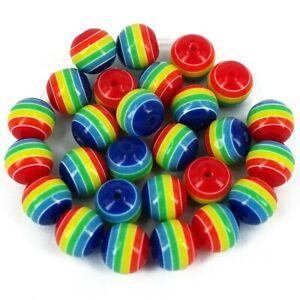 Gay-pride-Acrylic-round-beads-Rainbow-8mm-Jewellery-making-Kids-Craft-A6-x-50