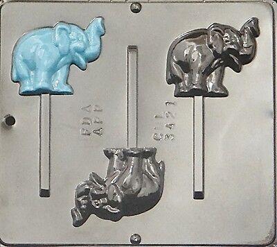 Elephant Lollipop Chocolate Candy Mold 3421 NEW