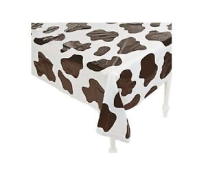 Table Cover Cow Print Plastic Rectangle Party Decorations Tableware