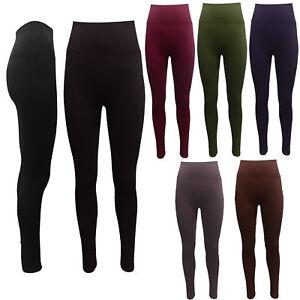 b68d8f8284 Image is loading High-Waist-Leggings-Seamless-Shapewear-Leggings-Control- Slimming-