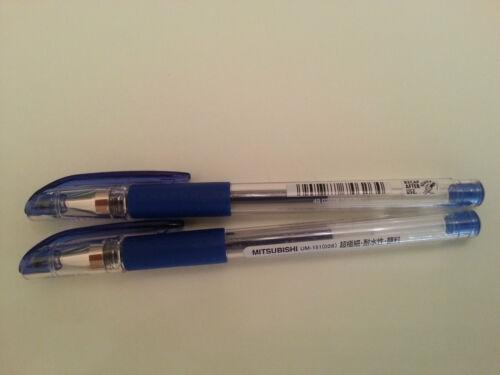 Uni-Ball Signo UM-151 0.28 mm Roller Pen 2 blue pens