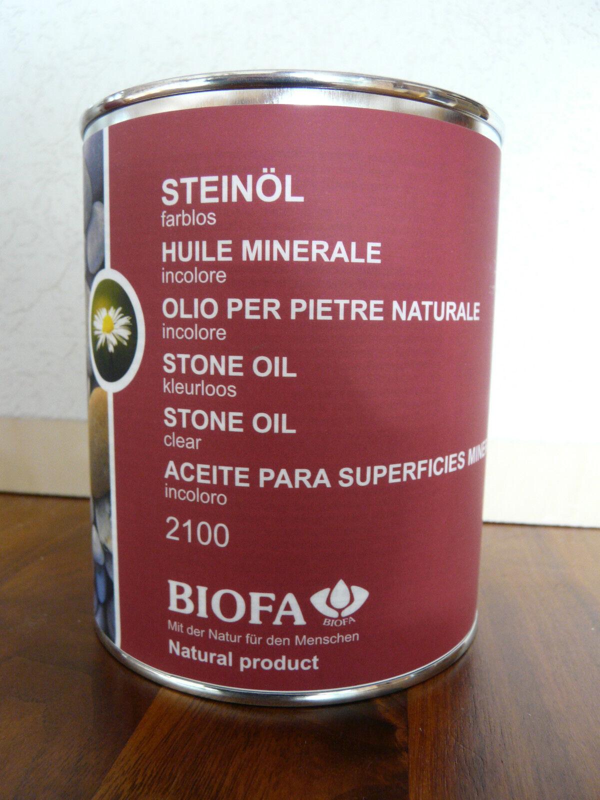 Biofa Steinöl  2100  2,5 l für ca. 30,0m² Bioöl Naturfarbe