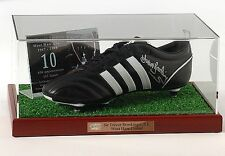 Trevor Brooking Hand Signed Football Boot West Ham United AFTAL photo proof COA