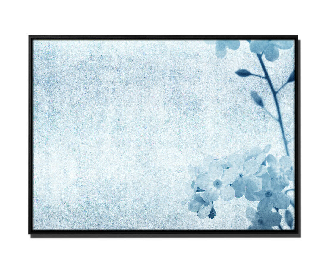 105x75cm Leinwandbild Petrol Nahaufnahme Blüten