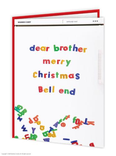 Brother Bro Drôle de Noël de Noël carte Cheeky comédie humour drôle amusant blague