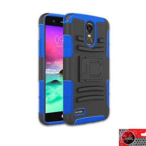 best cheap de5eb 08b1e Details about For Cricket LG Stylo 3 /M430 Armor Kickstand Hard Soft Cover  Case With Belt Clip