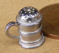 1:12 Scale Empty Metal Flour Shaker Dolls House Miniature Kitchen Food Accessory