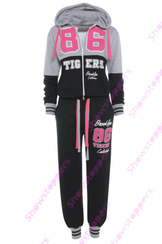 GIRLS TRACKSUIT Girls Hoodie POCKET SUIT CLOTHING Joggers Age 7 8 9 10 11 12 13