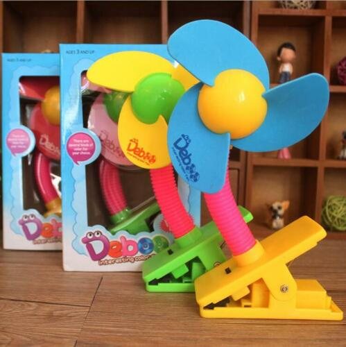 Summer Portable Mini Safety Clip-on Fans for Buggy Baby Pram