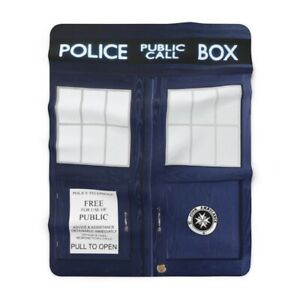 TARDIS-Sherpa-Fleece-Blanket-60-034-x80-034-Inspired-By-BBC-TV-Show-Doctor-Who