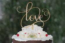 NUOVO la nostra splendida in legno Love wedding cake topper