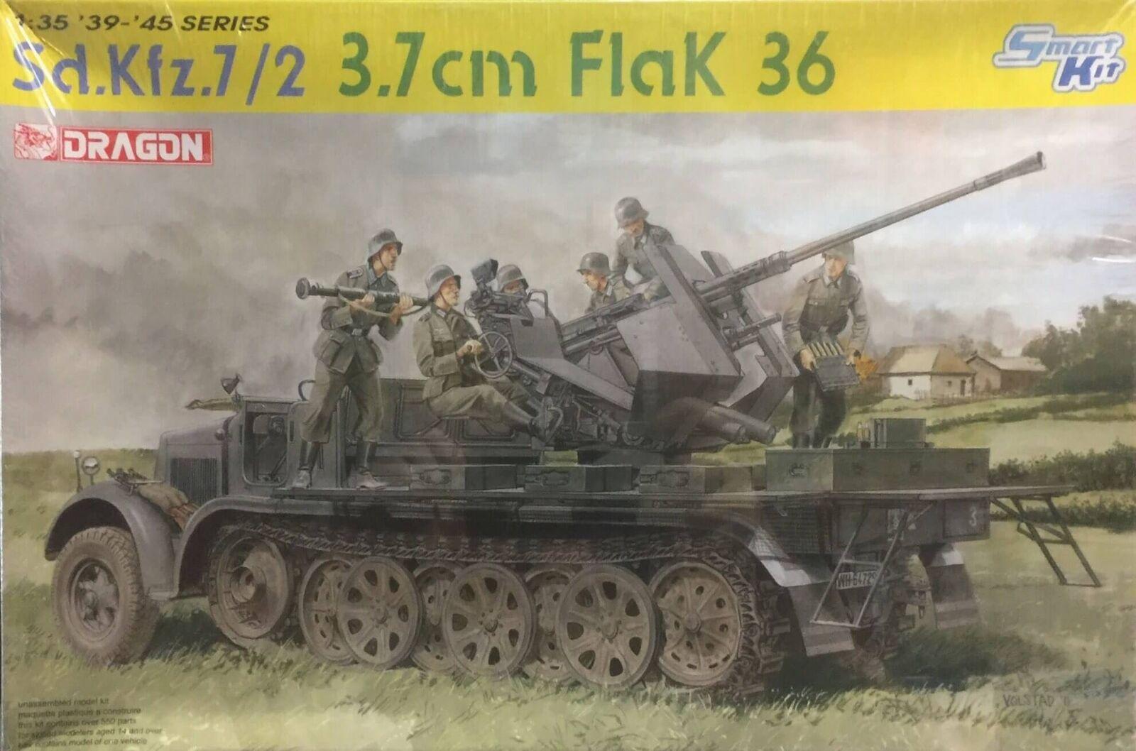 Dragon Sd.Kfz.7 2 3.7 cm FlaK 36 Ref 6541 Escala 1 35