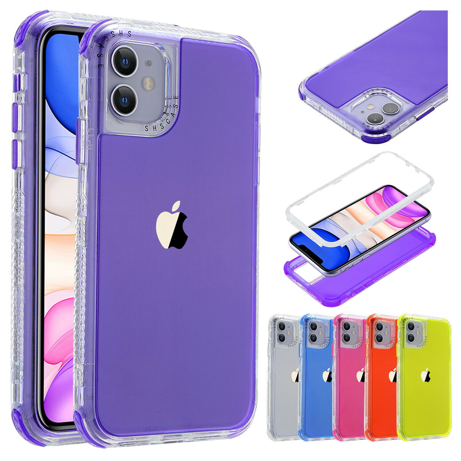 Clear OCYCLONE Clear iPhone 11 Pro Max Case Tempered Glass Back with Soft TPU Bumper Shockproof Slim Thin Protective Case for New iPhone 11 Pro Max 6.5 inch 2019 Release Crystal Clear