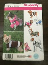 Simplicity Pets Easy Sewing Pattern 1239 Dog Coats Simplicity-1239-A