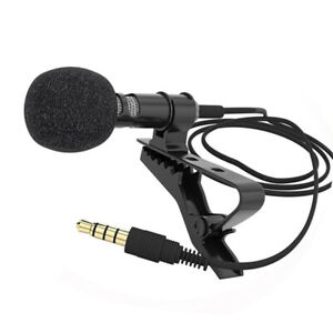 Clip-on-Lapel-Mini-Lavalier-Mic-Microphone-3-5mm-for-Mobile-Phone-PC-Recording-F
