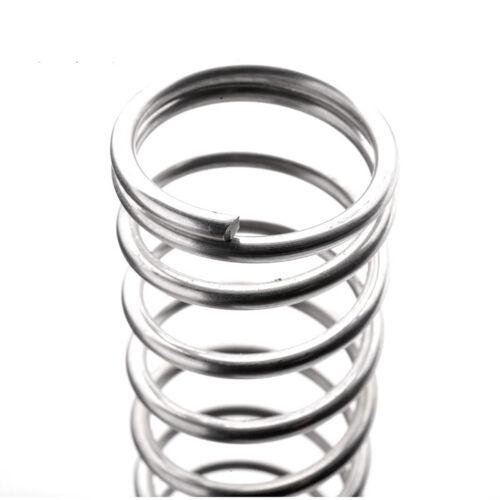 Edelstahl Druckfedern Rückstellfeder Feder d= Ø1,2mm L= 10-200mm Außen Ø8-20mm