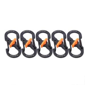 Double S-Biner Carabiner Shaped Clip Hook Keyring Camping Clasp Buckle