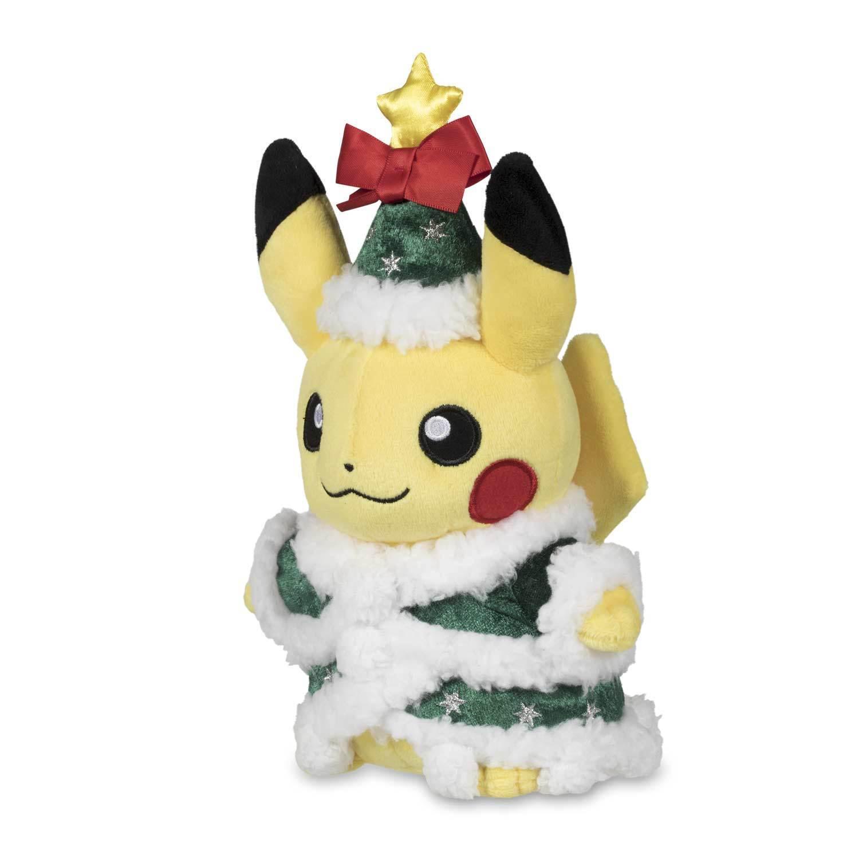 Pokemon Center Original Christmas Holiday Tree Pikachu Poké Plush - 8 3/4 In.