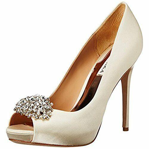 Badgley Mischka Womens Jeannie Satin Dress Peep-Toe Heels 9M 9M 9M 524dfe