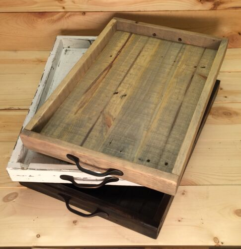 Ottoman Tray,Serving Tray With Handles Rustic Serving Tray Wood Tray