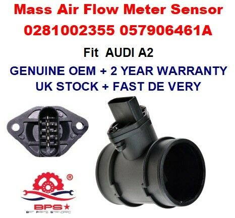Mass Air Flow meter sensor 0281002355 057906461A 057906461AX for AUDI A2 8Z0
