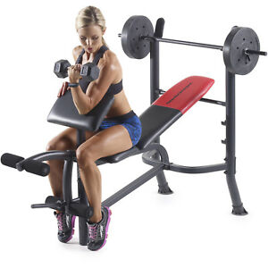 Sensational Details About Weight Bench 80 Lb Weights Set Bar Press Dumbells Barbell Home Gym Body Workout Creativecarmelina Interior Chair Design Creativecarmelinacom