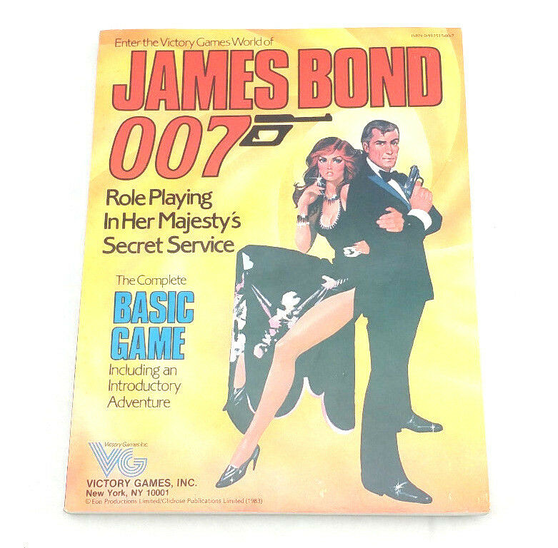 James Bond 007 Role Playing Game Book In Her Majesty's Secret Service (1983)