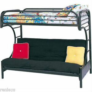 Marvelous Details About Twin Over Full Bunk Beds Futon Kids Bed Black Metal Furniture Convertible Dorm Creativecarmelina Interior Chair Design Creativecarmelinacom