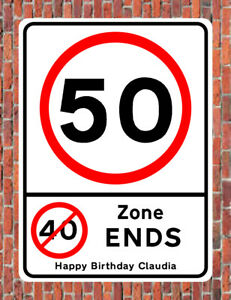 Image Is Loading 50 MPH 40 ZONE ENDS Road Style METAL