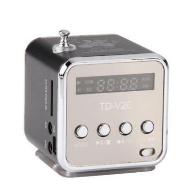 Mini LCD Enceinte Haut Parleur USB FM Amplificateur SD/TF Carte MP3 MP4 Portable