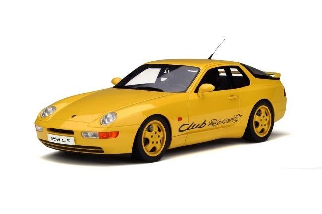 Porsche 968 Coupé Club Sport Sport Sport CS Jaune Yellow 1993 Resin GT SPIRIT New 1:18   Impeccable  5e9d5a