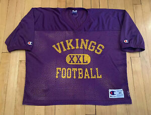 Minnesota-Vikings-Authentic-Vintage-90-s-Champion-Practice-Jersey-NWOT-44-Large