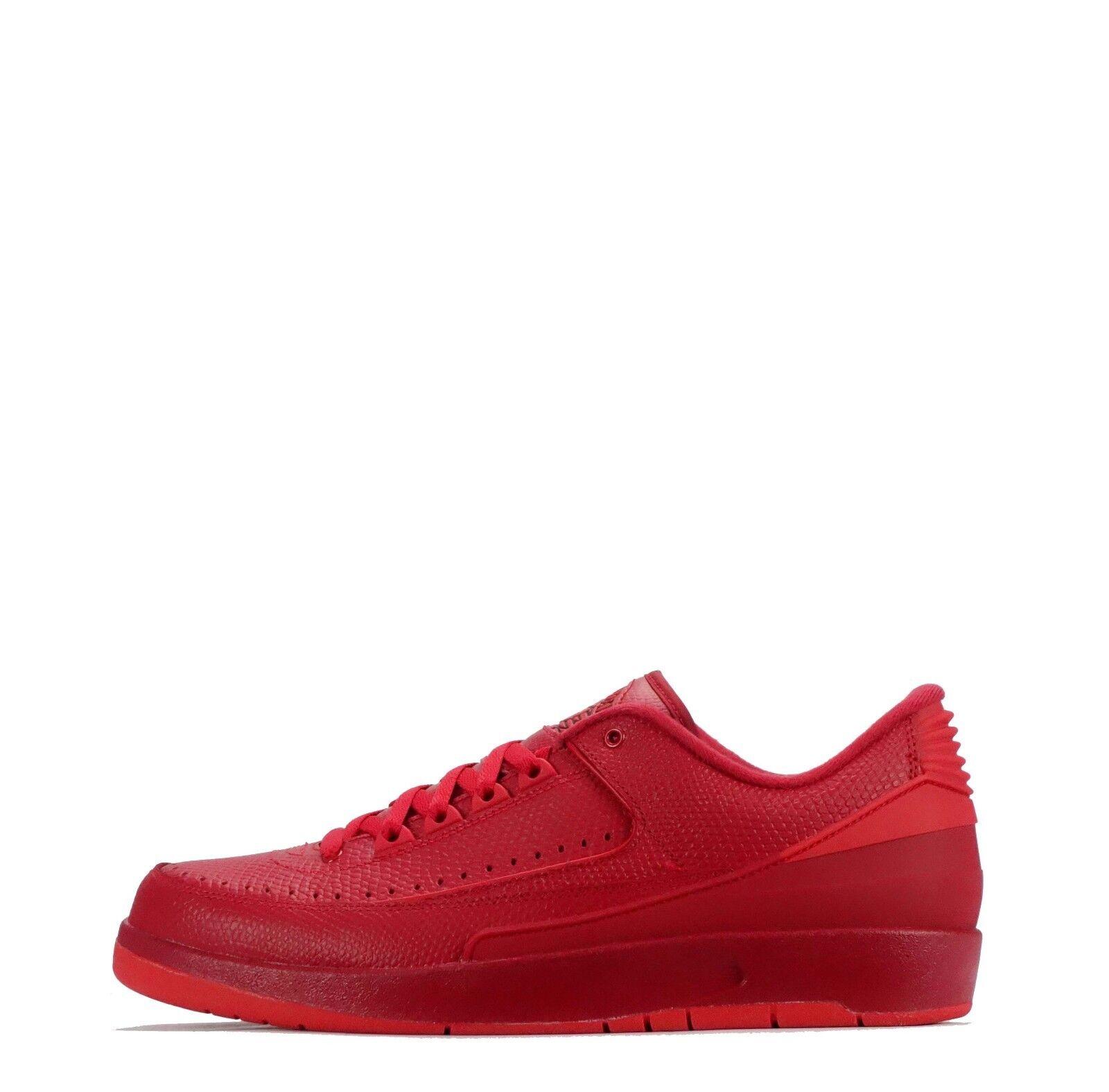Air JORDAN 2 Retro Sneaker Basse Scarpe Da Ginnastica Uomo Rosso/Rosso Scarpe classiche da uomo